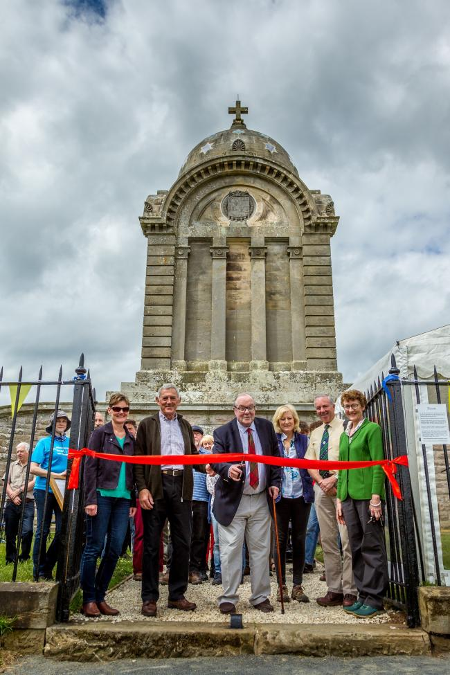 The re-opening of the renovated Monteath Mausoleum. Photo: Borders Aerial Photography