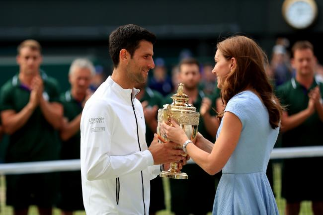 Duchess Presents Novak Djokovic With Trophy After Marathon Wimbledon Battle Border Telegraph