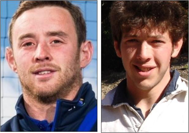 Selkirk's new 1st XV coaches - Scott Wight and Neil Darling.