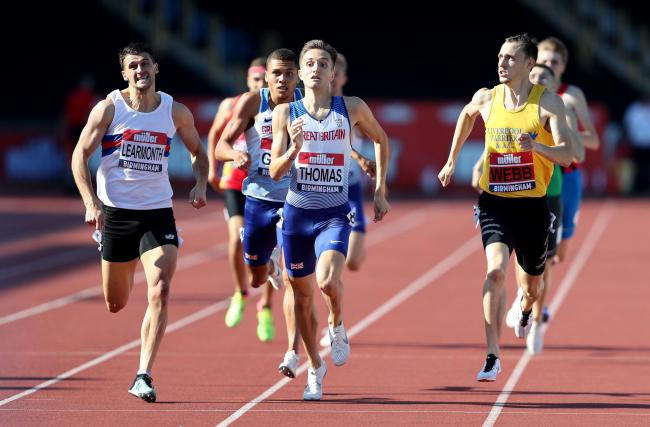 Guy Learmonth finishes late in the final of the 800 metres. Photo: David Davies/PA Wire
