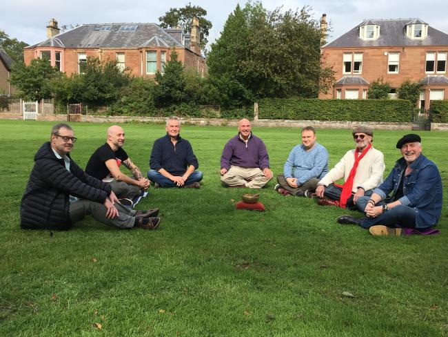 Feeling less alone, men's mental health support group having its first meeting. Photo: Peer 2 Peer Mindfulness