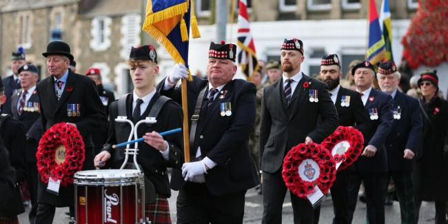 Selkirk Remembrance parade, 2019. Photo: Brian Sutherland