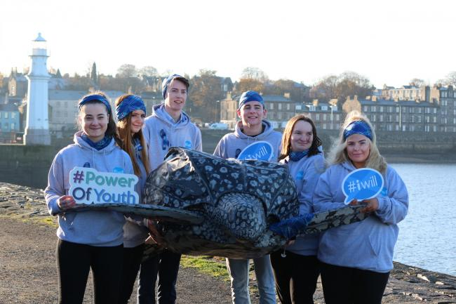 #iWill4Nature Scotland Ambassadors at the campaign launch with Stuart the Turtle
