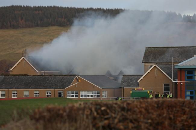 Possessions left by evacuated pupils can be collected today