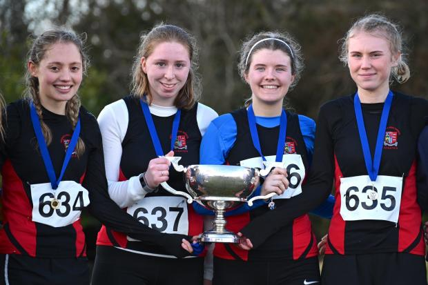 The successful Peebles High Senior team. Photos: Neil Renton