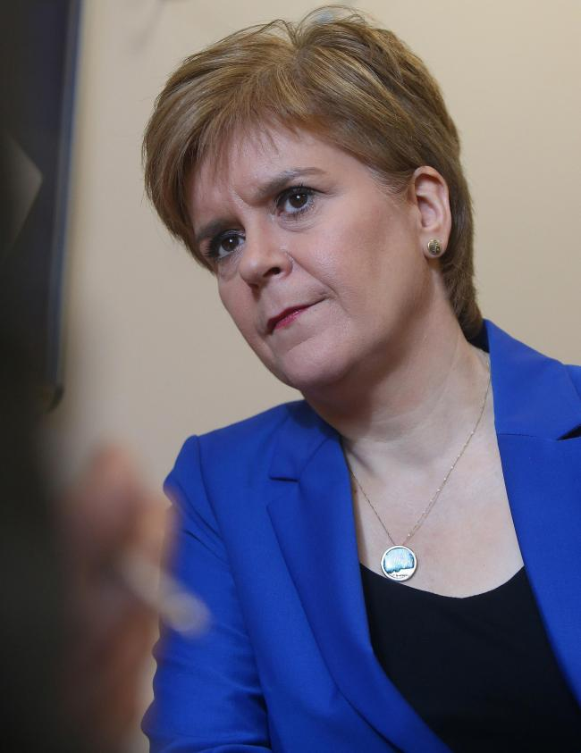 Nicola Sturgeon. Photo: Gordon Terris/The Herald/PA Wire