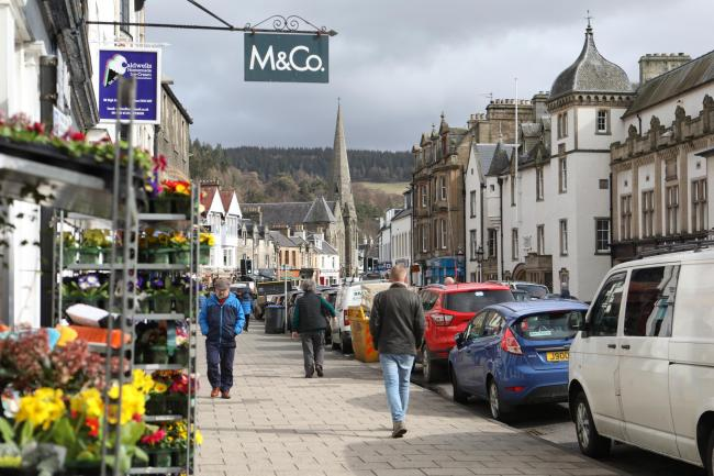 Peebles' High Street. Photo: Helen Barrington