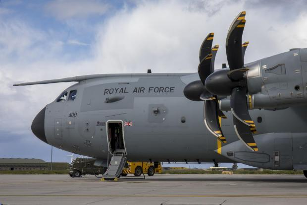 Border Telegraph: This is an Airbus A400M Atlas, the type of airfact seen over Glasgow in recent weeks (Image: RAF)
