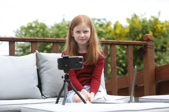 Lucy Millar, aged nine, has made a video about epilepsy. Photo: Helen Barrington