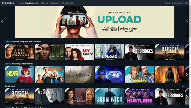 Border Telegraph: The Amazon Prime Video home page offers access to movies and TV shows sorted into categories. Credit: Amazon