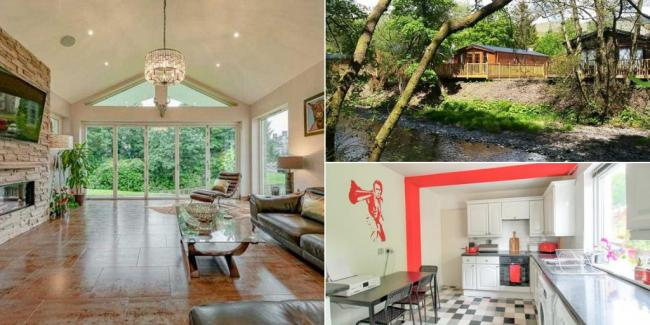 Inside the most popular properties for sale in Scotland - including a riverside holiday lodge
