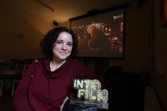 Charlie Dawson runs a film club at the Rowlands centre in Selkirk. Photo: Helen Barrington