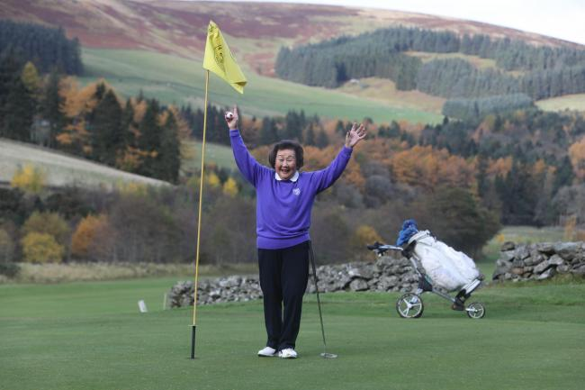 Innerleithen golfer Kim Robertson, 83, shot her first-ever hole-in-one during a round at her local club. Photo: Helen Barrington