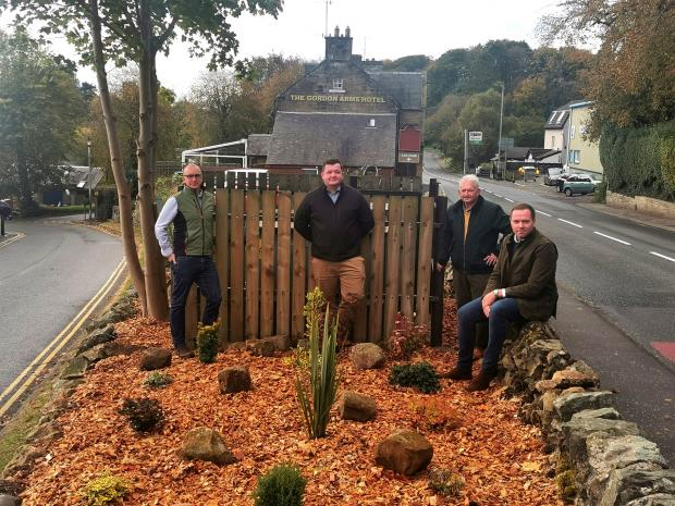 Border Telegraph: Volunteers at the football club helped with the tidy up