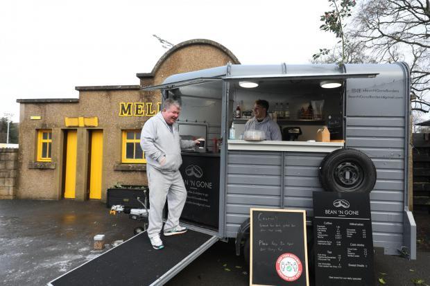 Border Telegraph: Bean 'N Gone has been based outside the Greenyards, Melrose, since December. Photo: Helen Barrington