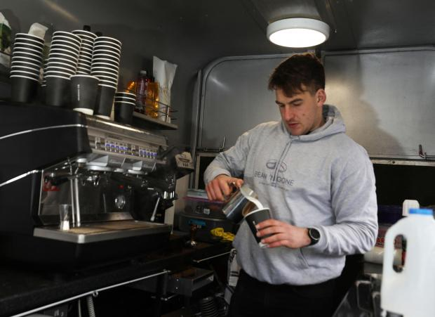 Border Telegraph: The Southern Knights captain was inspired to set up a coffee business after seeing 'indie' ventures in Edinburgh. Photo: Helen Barrington