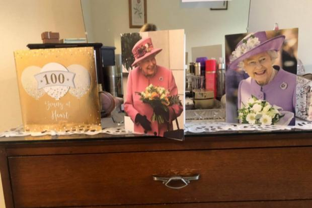 Border Telegraph: Some of Annie Drummond's 100th birthday cards, with the Queen among the well-wishers