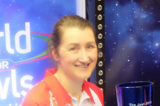 Julie Forrest is in the final of the mixed pairs at the World Indoor Bowling Championships