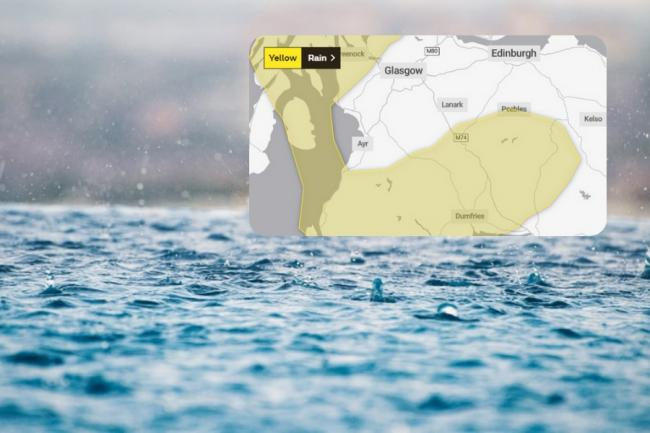 Parts of the Borders could see heavy rain this weekend