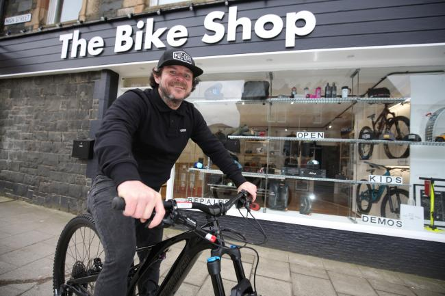Gordo Hodge has opened The Bike Shop in Innerleithen. Photo: Helen Barrington