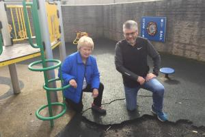 Judith Cleghorn and Gerry Moss of the Langlee Residents Association
