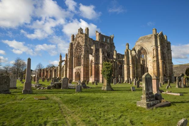 Border Telegraph: Melrose Abbey remains the most popular paid-for attraction in the Borders