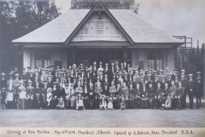 The opening of the Peebles Bowling Club clubhouse in 1914 was dubbed as 'one of the handsomest in the country.' Photo: Tweeddale Museum