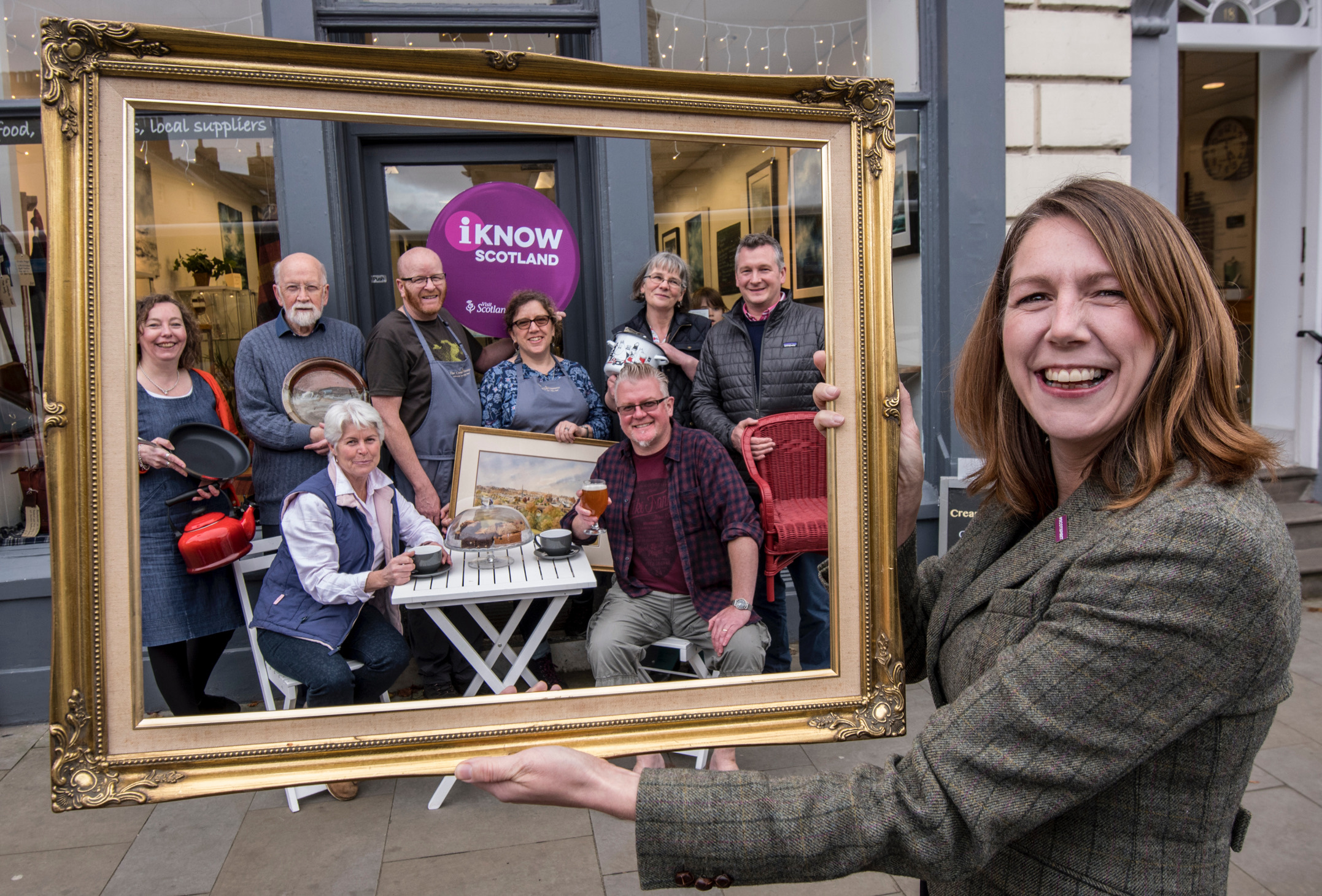 VisitScotland Regional Director Paula Ward is pictured with members of Visit Kelso. Photo: Phil Wilkinson
