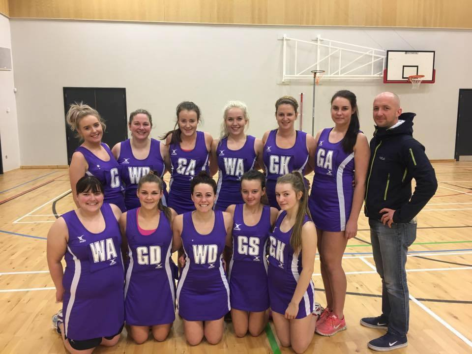 A netball tournament will be held in honour of Alex Stuart (bottom, second from left) in Peebles later this month. Photo: Evanna Holland