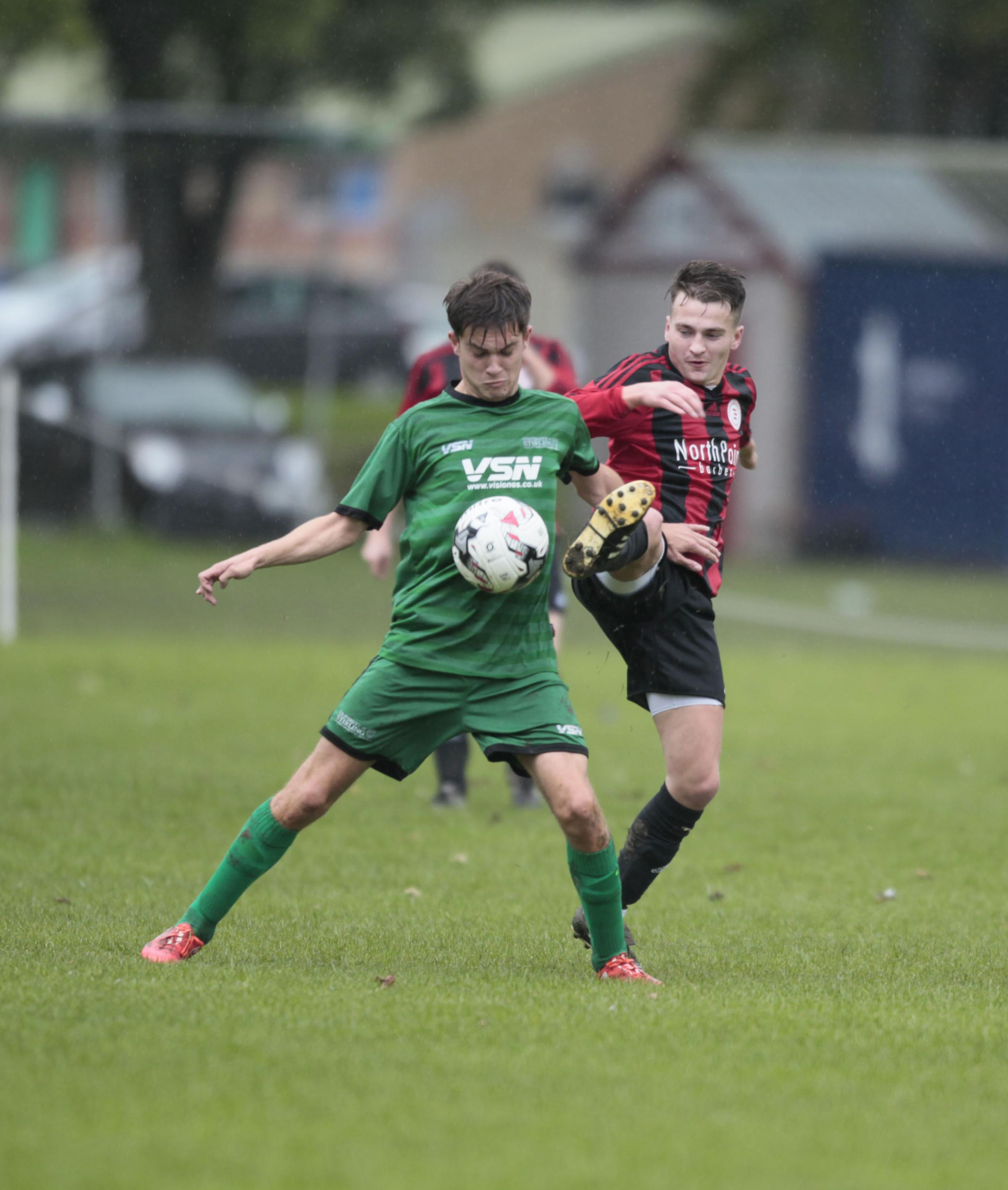 Ben Brown in action recently for Peebles Rovers