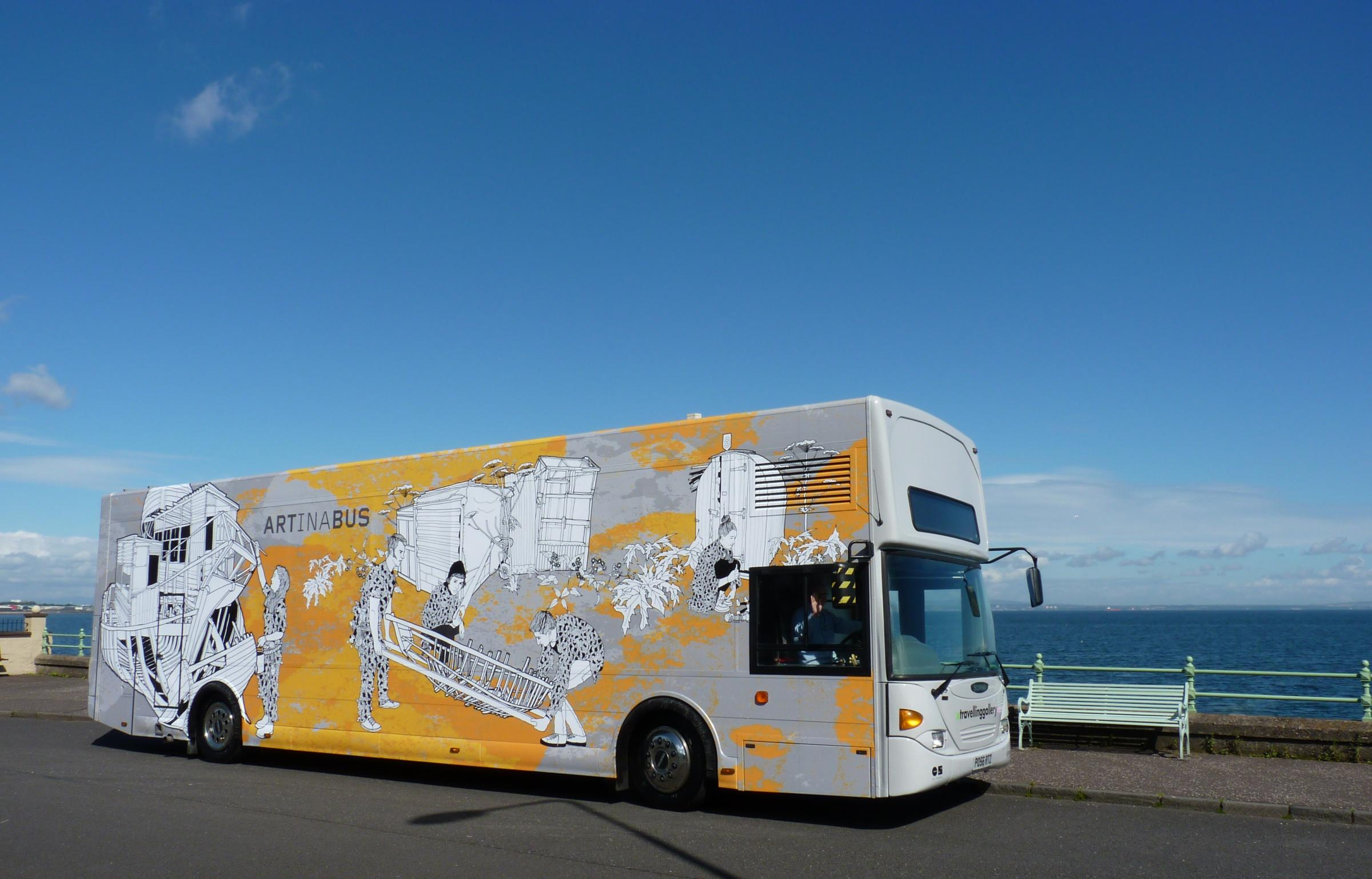 The Art Bus will stop off in Peebles next week. Photo: Travelling Gallery