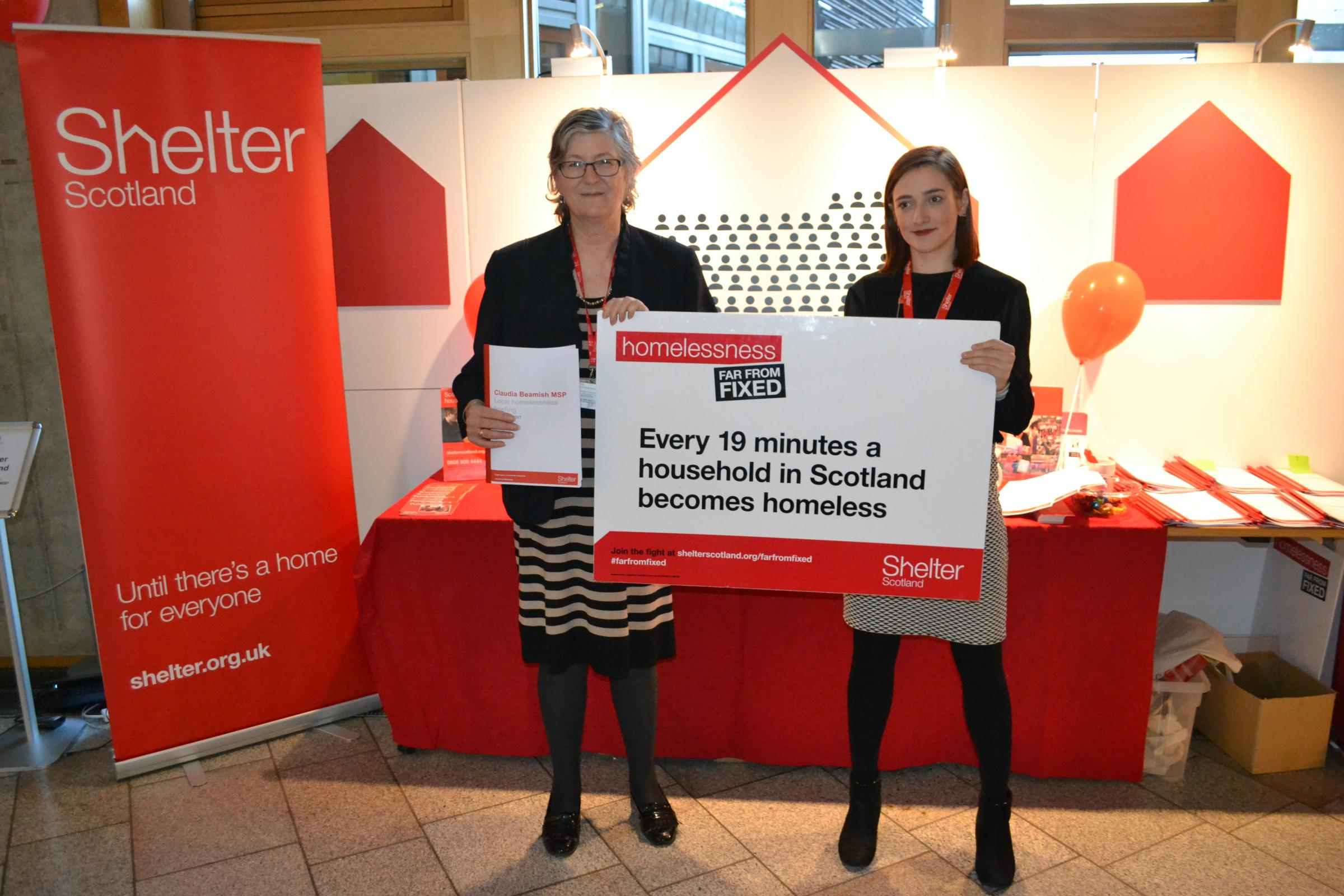 MSP Claudia Beamish is backing the Shelter Scotland campaign