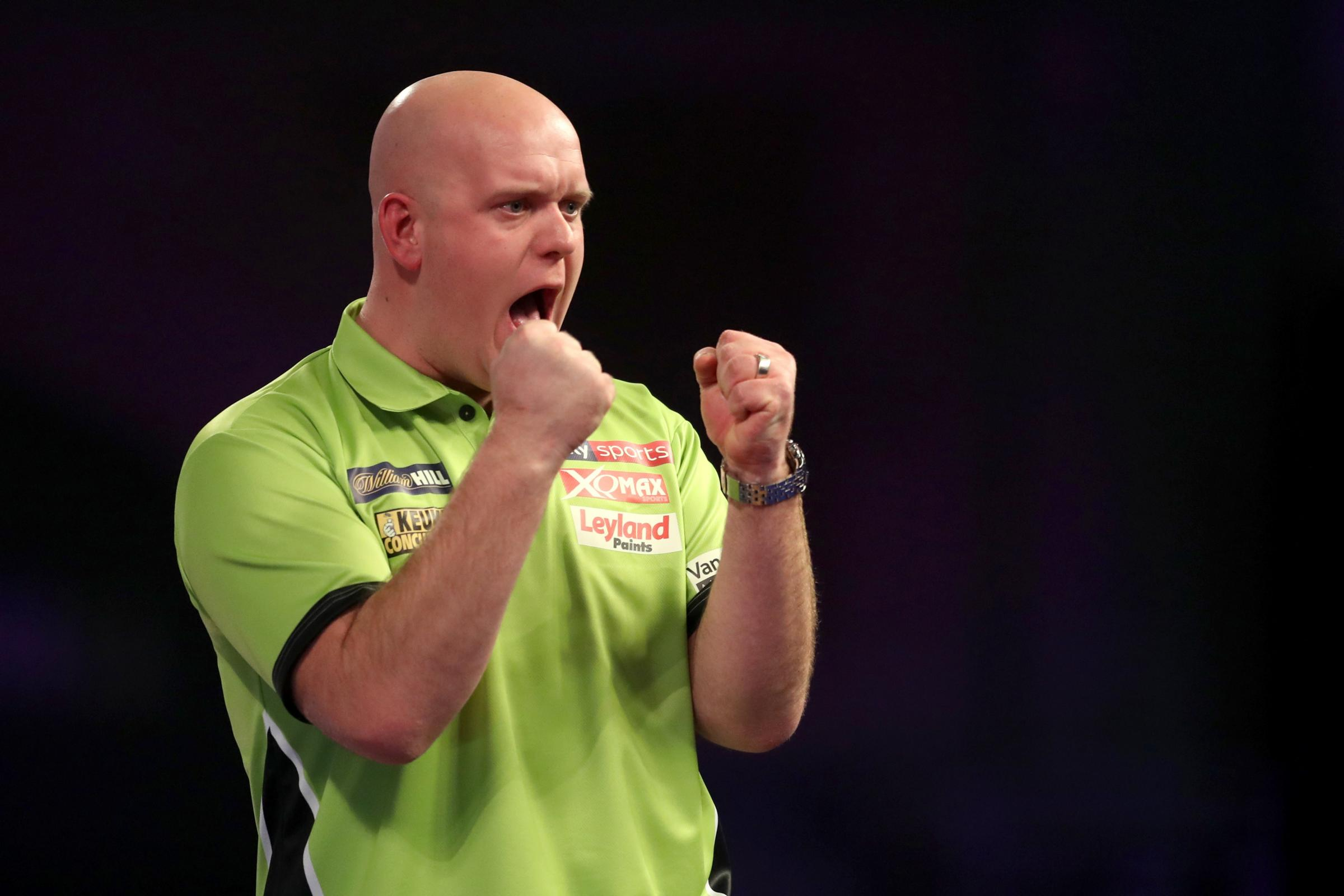 Michael Van Gerwen is in good shape in the Premier League (Adam Davy/PA)