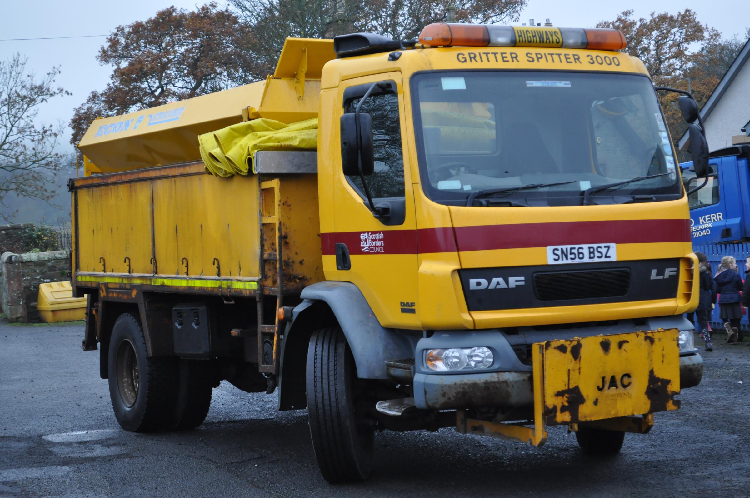 SBC have confirmed that gritters will pre-salt priority routes this evening. Photo: Scottish Borders Council