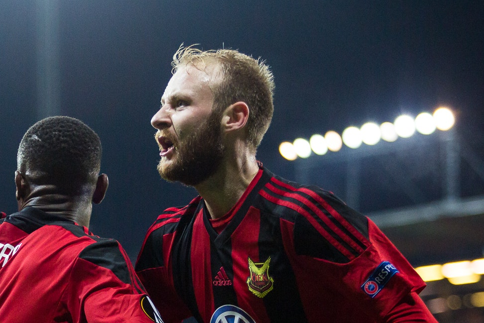 Curtis Edwards has been plying his trade in the Europa League this season (Johan Axelsson/Ostersunds)