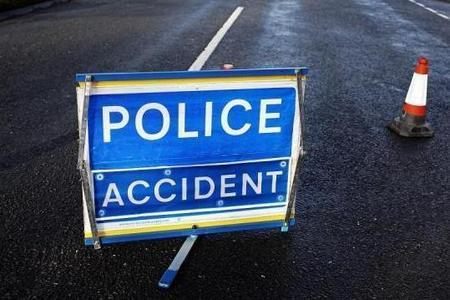Firefighters cut driver from vehicle after evening crash on A701