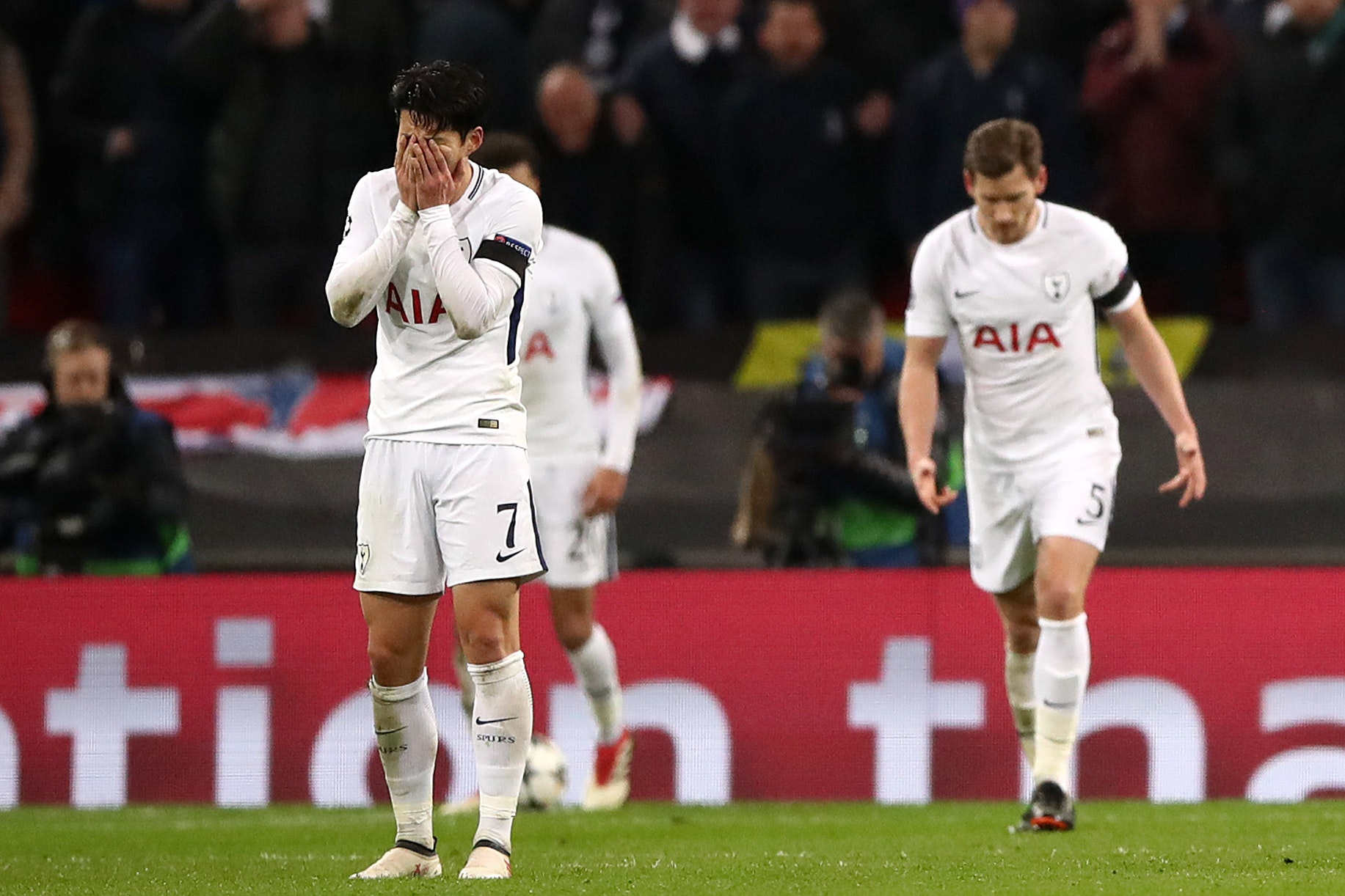 Son Heung-Min was devastated at Tottenham's Champions League defeat (John Walton/PA)