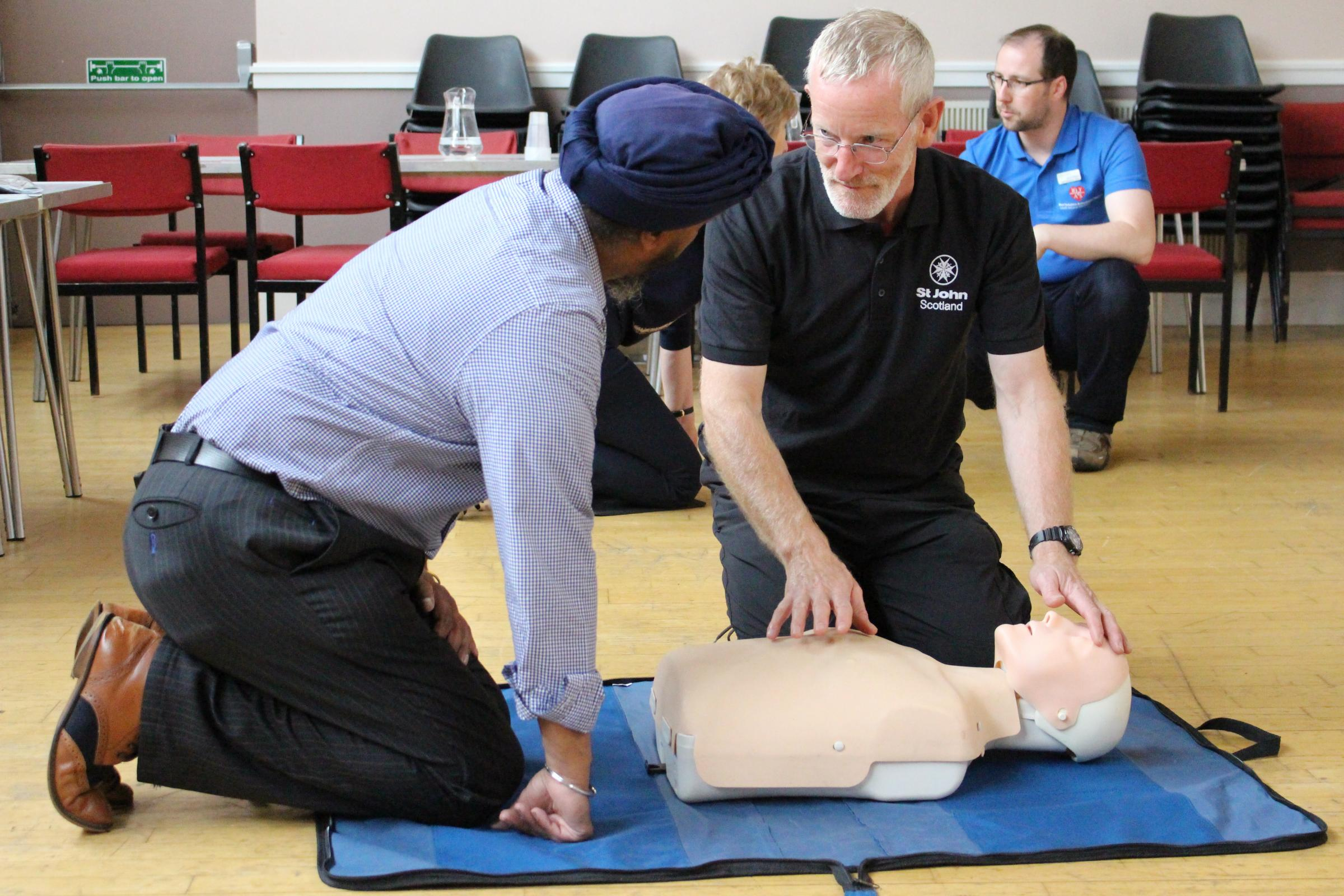 Save a Life For Scotland are asking everyone in Scotland toget CPR ready.