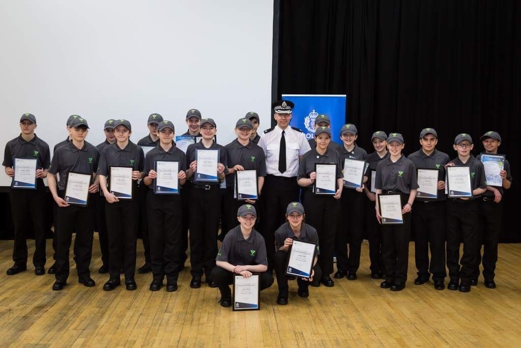 The first Police Scotland Youth Volunteers in the Borders had a passing out parade in Galashiels last month. Photo: Police Scotland