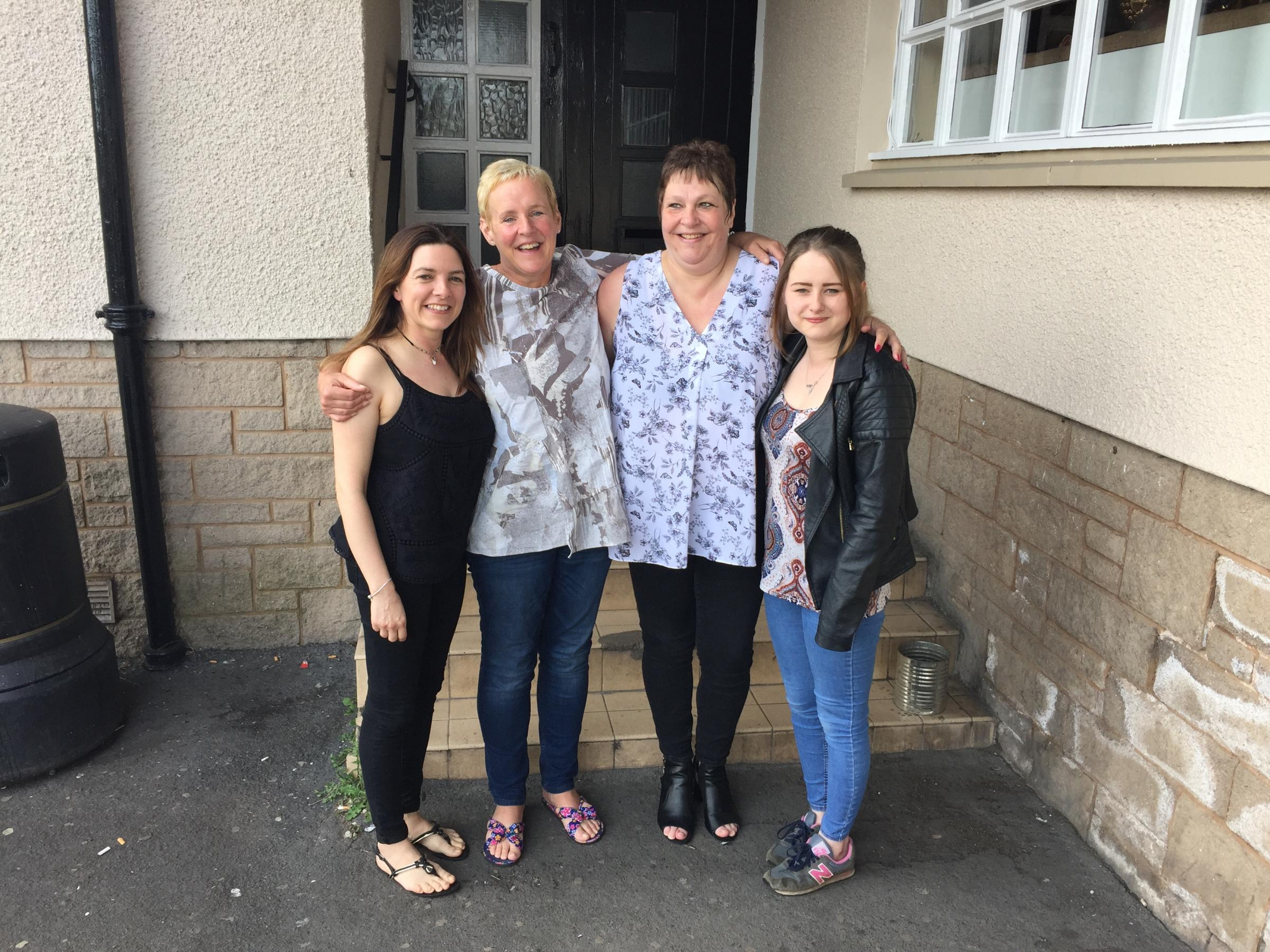 Donna Doogan, Angie Farrell, Elspeth Johnston and Kayleigh Denholm