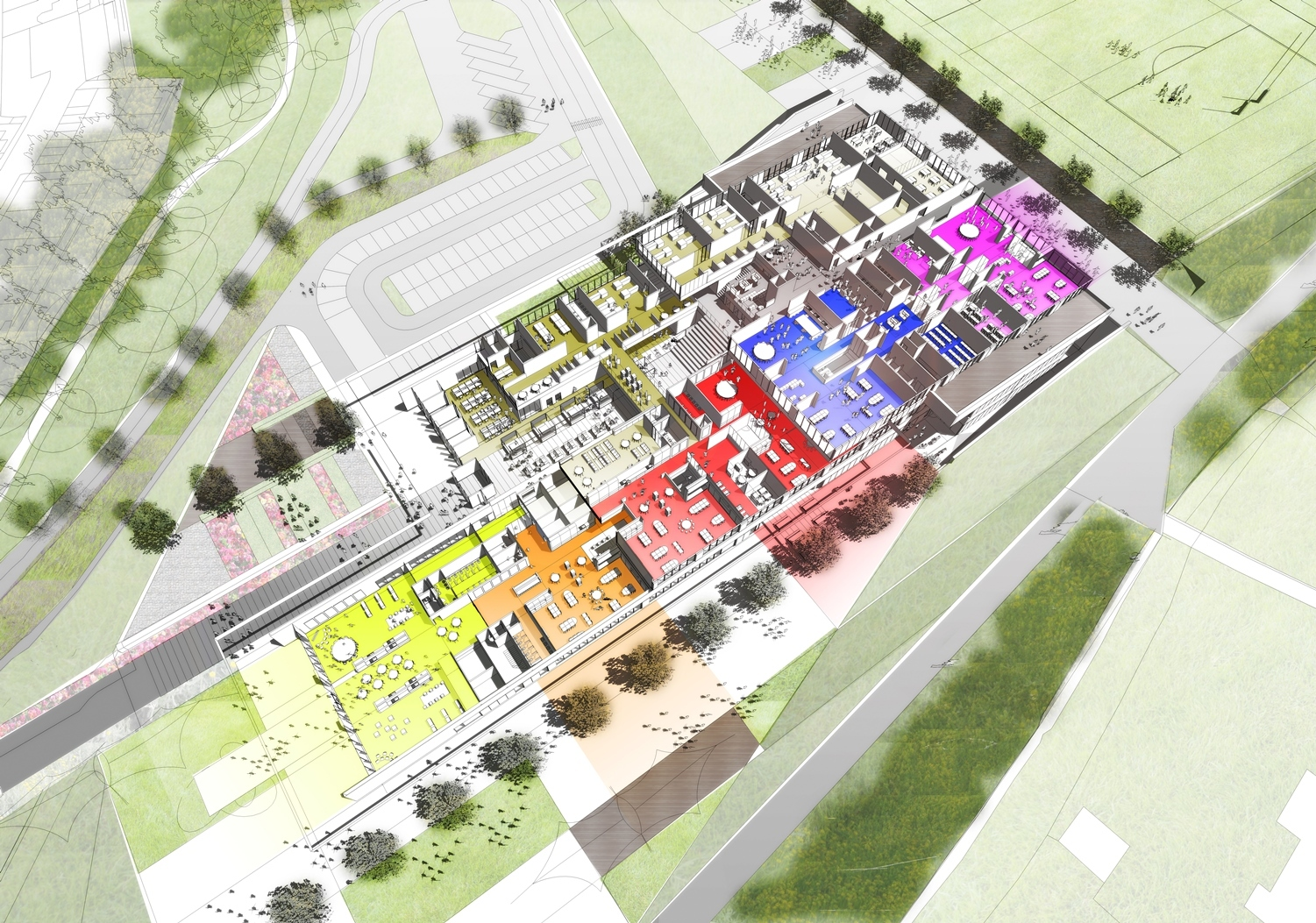 Plans for the new campus in Jedburgh. Photo: SBC