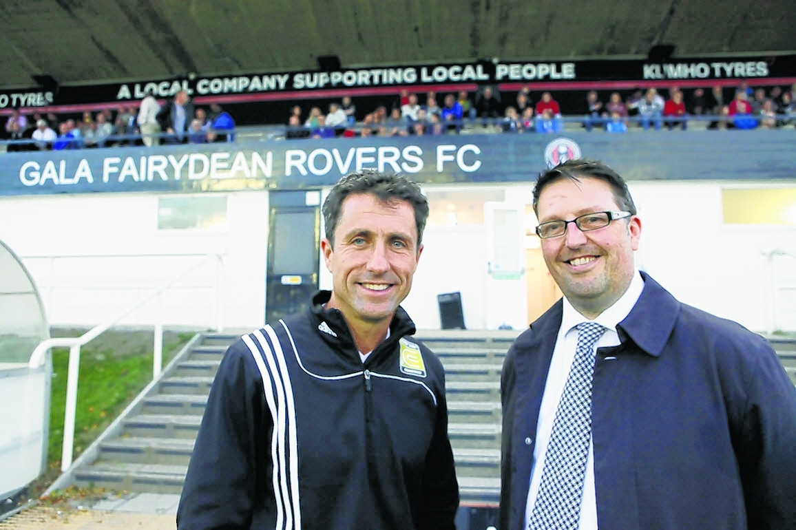 Graeme McIver with one of last year's Hall of Fame inductees, John Collins