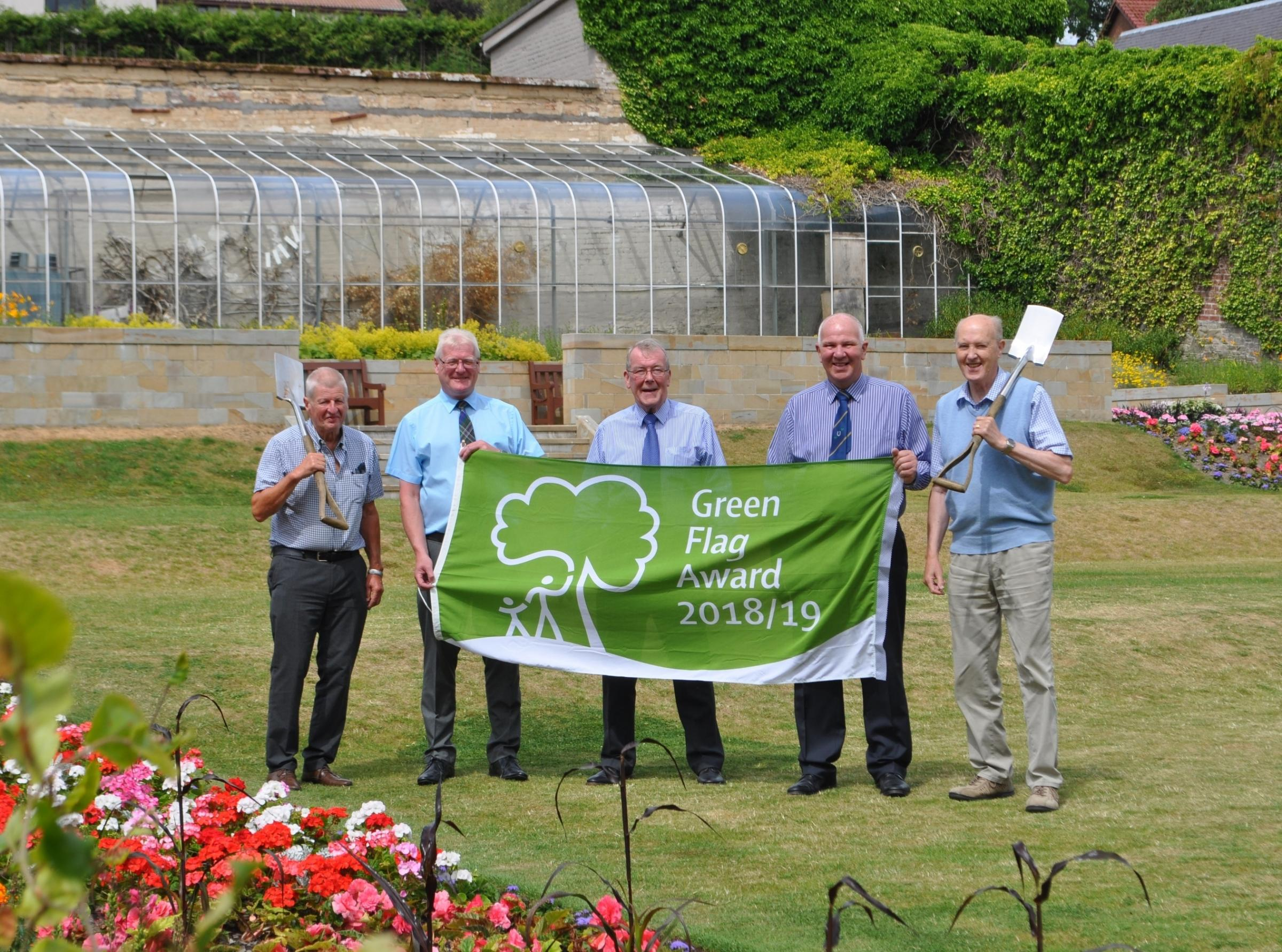 Hawick's Wilton Lodge is flying £3.64 million green flag for Borders parks