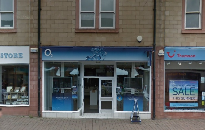 The O2 store on Chanel Street, Galashiels. Photo: Google Maps