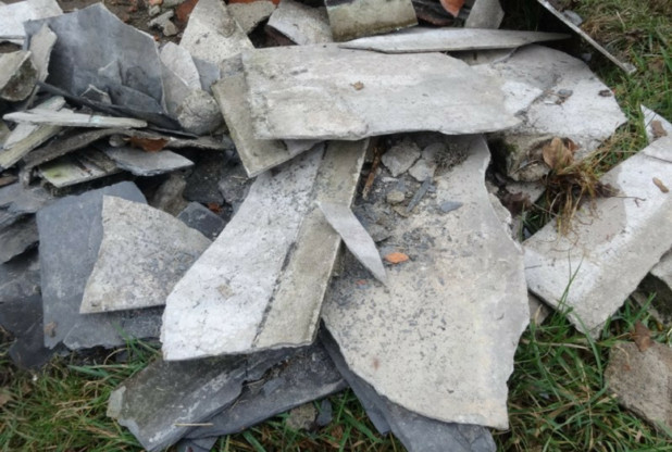 Asbestos waste can be dangerous
