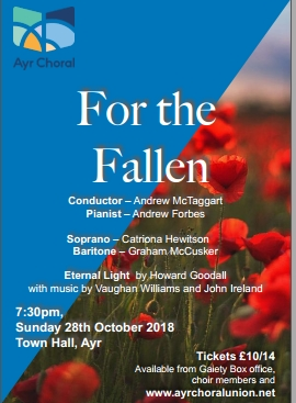 Ayr Choral concert - For the Fallen