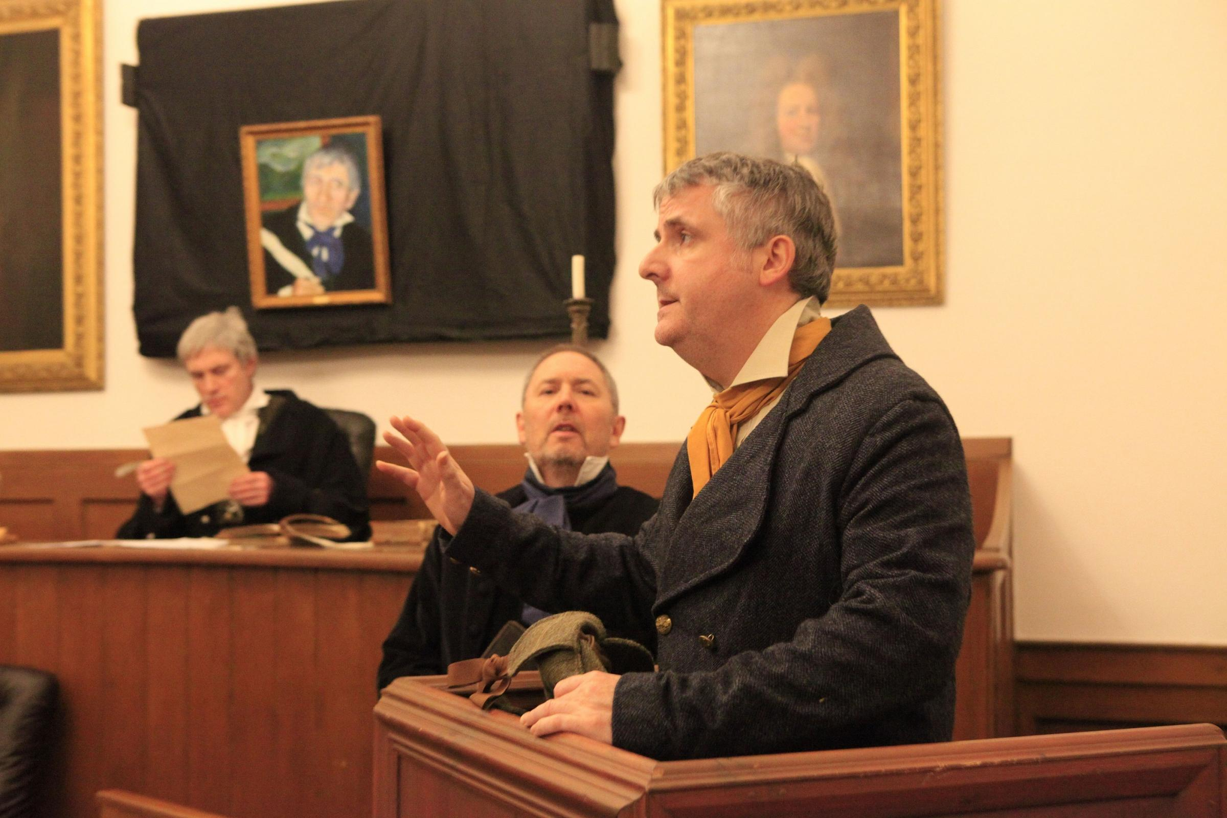 The ever popular trials in Sir Walter Scott's Courtroom
