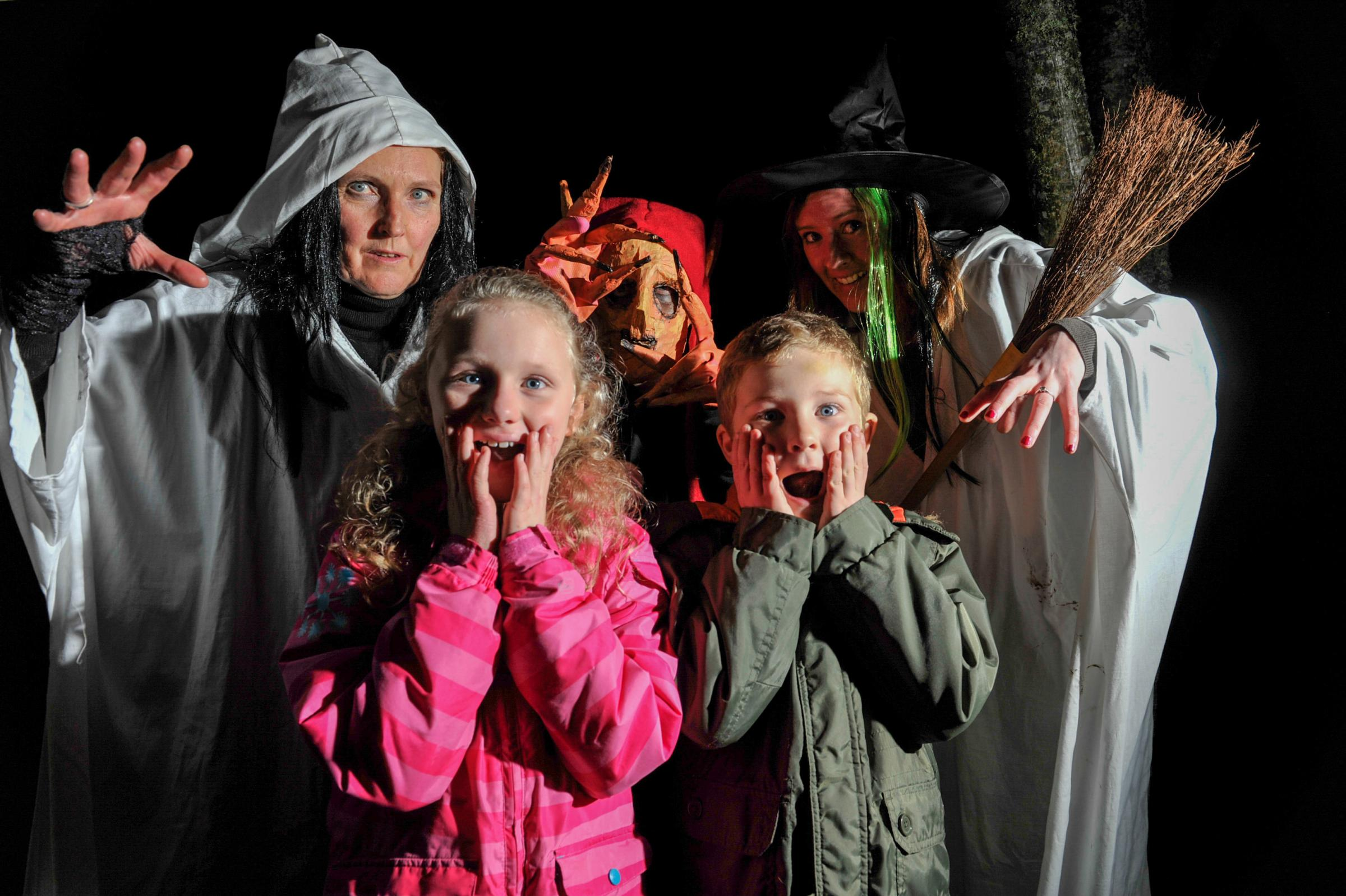 Bowhill's Haunted Halloween. Bowhill estate near Selkirk in the Scottish Borders entertained children and adults in their ghostly walks around the grounds acting out scenes from the area's creepy history.