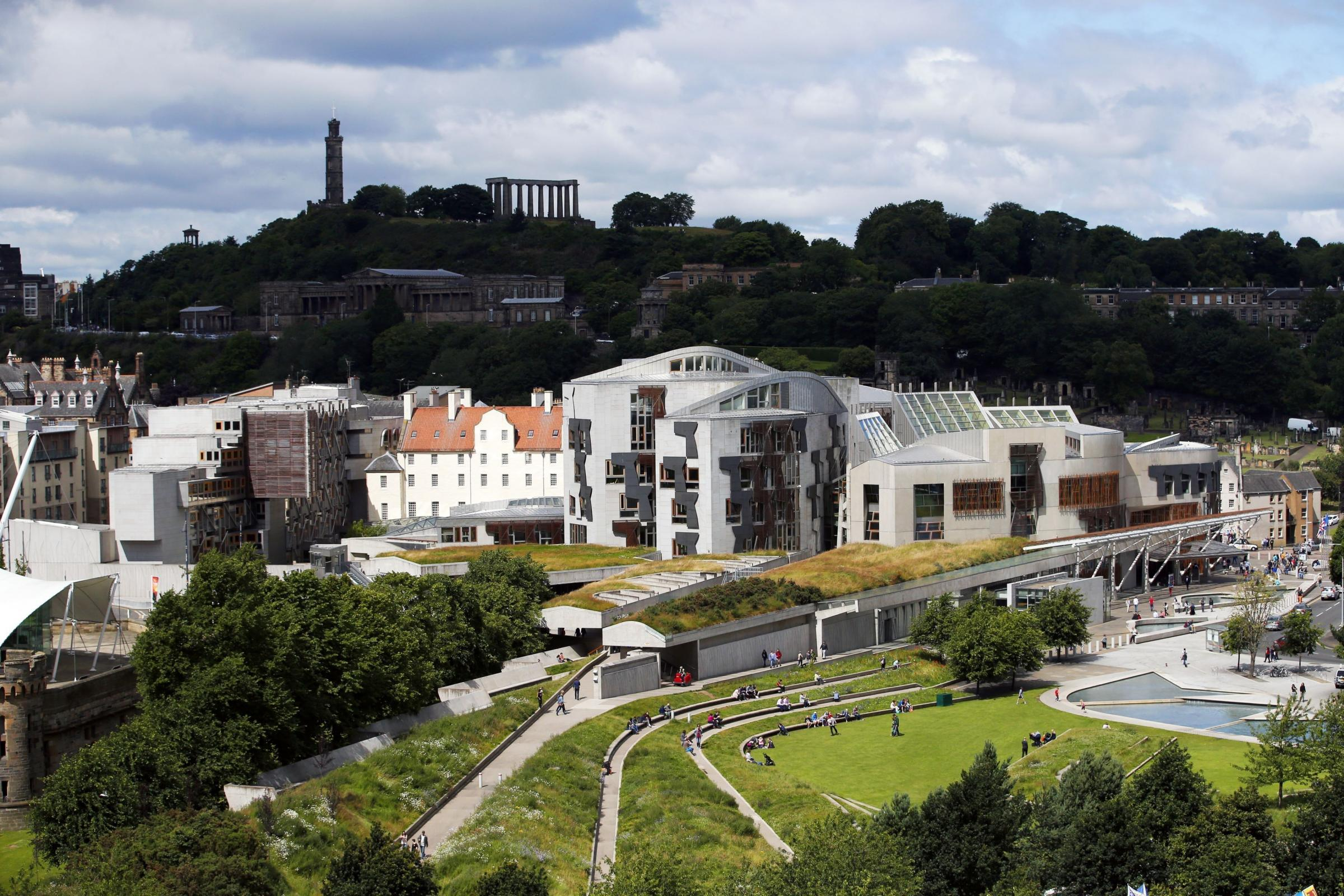 A general view of the Scottish Parliament
