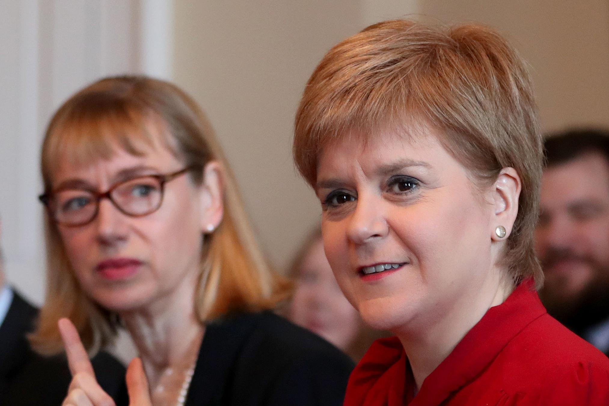 Nicola Sturgeon and Leslie Evans